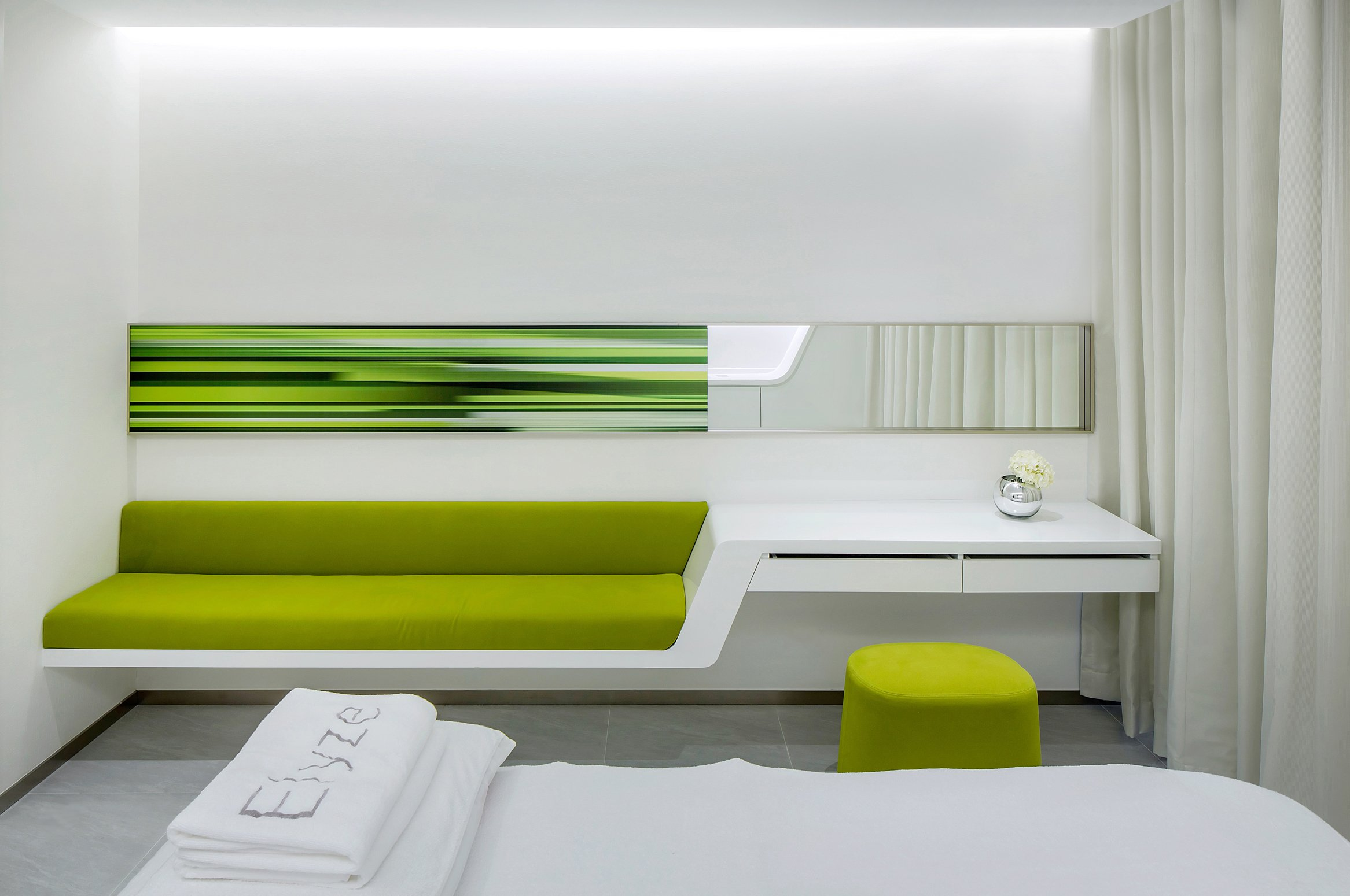 Medical center interior on pinterest medical center for Green interior designs