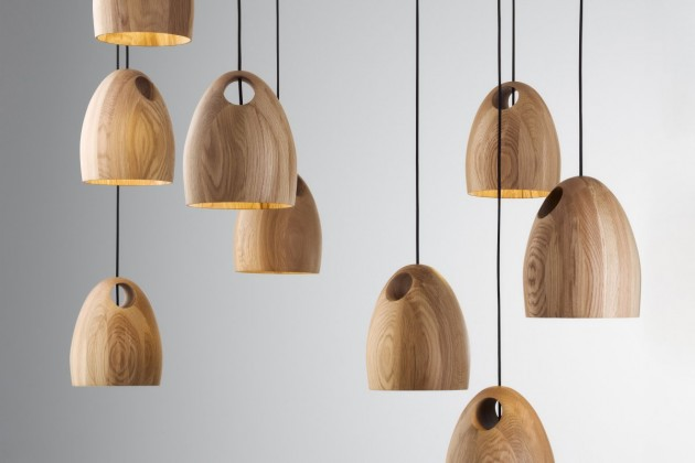 Australian Designer Ross Gardam Has Created A Collection Of Wood Pendant  Lamps Made From Oak.