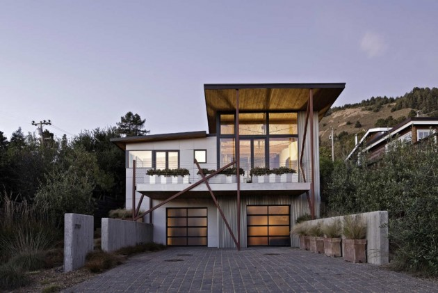 Wa Design Designed The Stinson Beach House Near San Francisco California