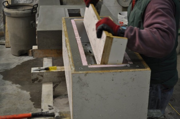 The Making Of A Concrete Bench By Sticks And Stones Furniture Contemporist