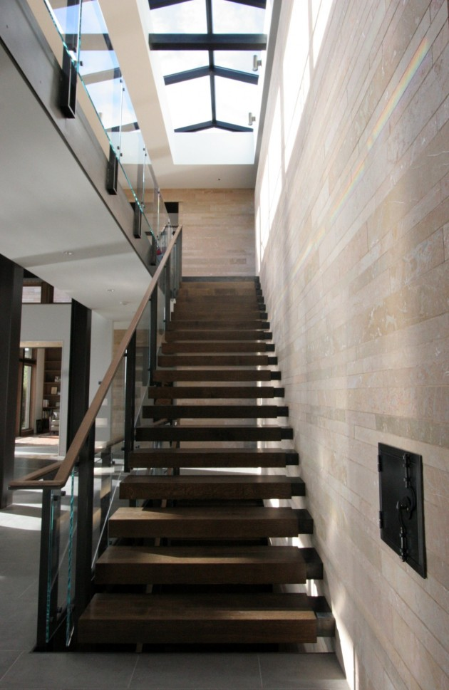 Wood and steel stair inspiration from a home in Seattle.