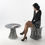 Rami Stool and Side Table by IL HOON ROH