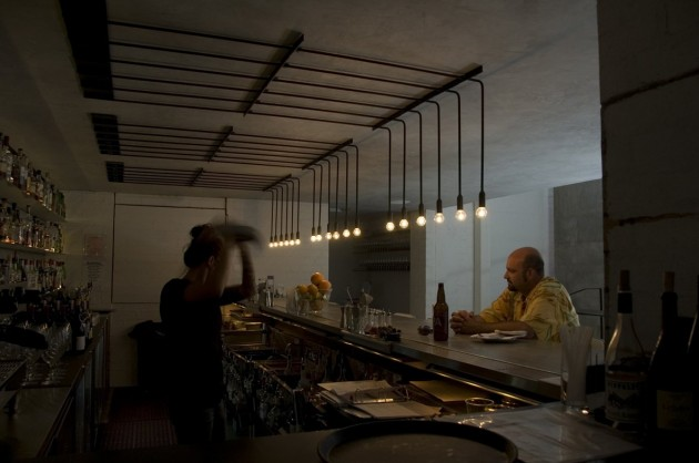 Workshop kitchen bar lighting by lab contemporist the lighting interventions differed depending on the sections however the light fixtures used for each section followed the same style to maintain the aloadofball Gallery