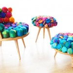 Recycled Silk Chair, Ottoman & Stool by Meb Rure