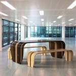 Surf-ace Table and Bench by Duffy London