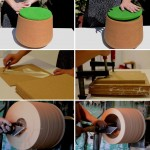 Watch this video of a stool being made out of cork