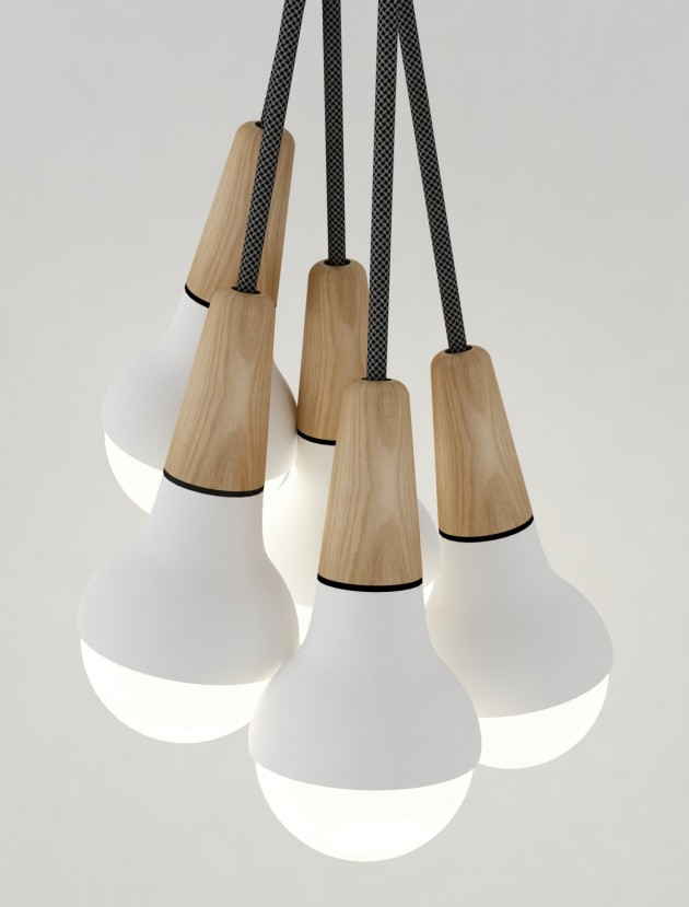 Lighting inspired by an ice cream cone