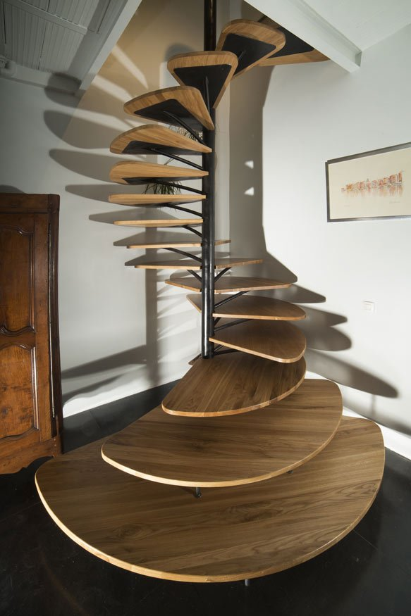 Wooden spiral staircase by Paul Coudamy » CONTEMPORIST