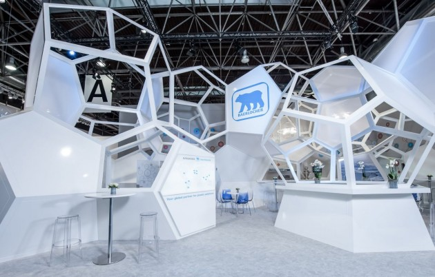 Exhibition Stand Structure : Molecule trade fair stand by wroom contemporist