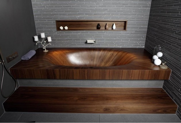 Italian Manufacturer ALEGNA Has Created Laguna, A Bath Tub Made From Wood.
