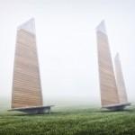 Sails Park Benches by Les Ateliers Guyon