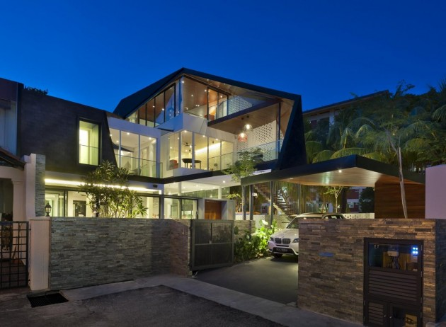 Jalan binchang house by a d lab contemporist for Modern detached house design