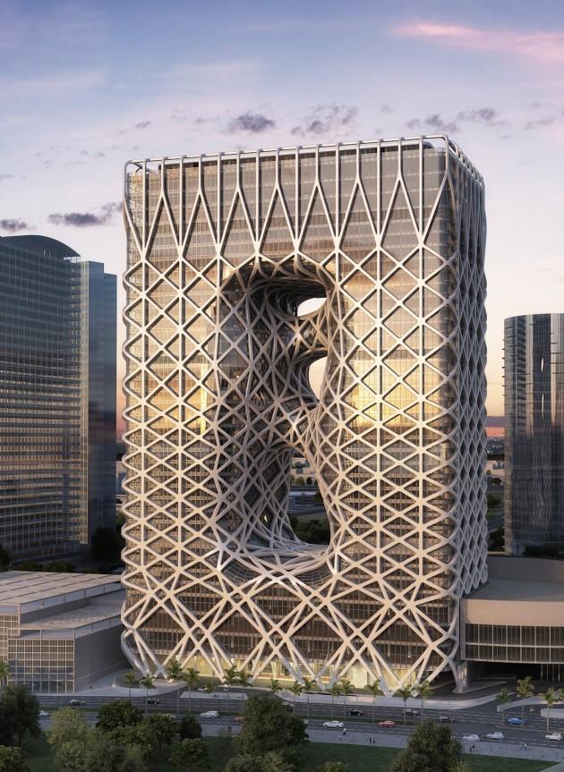 معماری،معماری هتل،معماری هتل زاها حدید