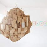 Nina Lindgren creates a floating city from cardboard