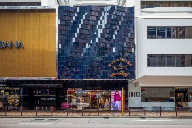 B+H design rolling wave facade for Paul & Shark