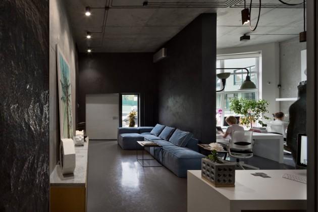 office and showroom of architectural workshop sergey makhno contemporist. Black Bedroom Furniture Sets. Home Design Ideas