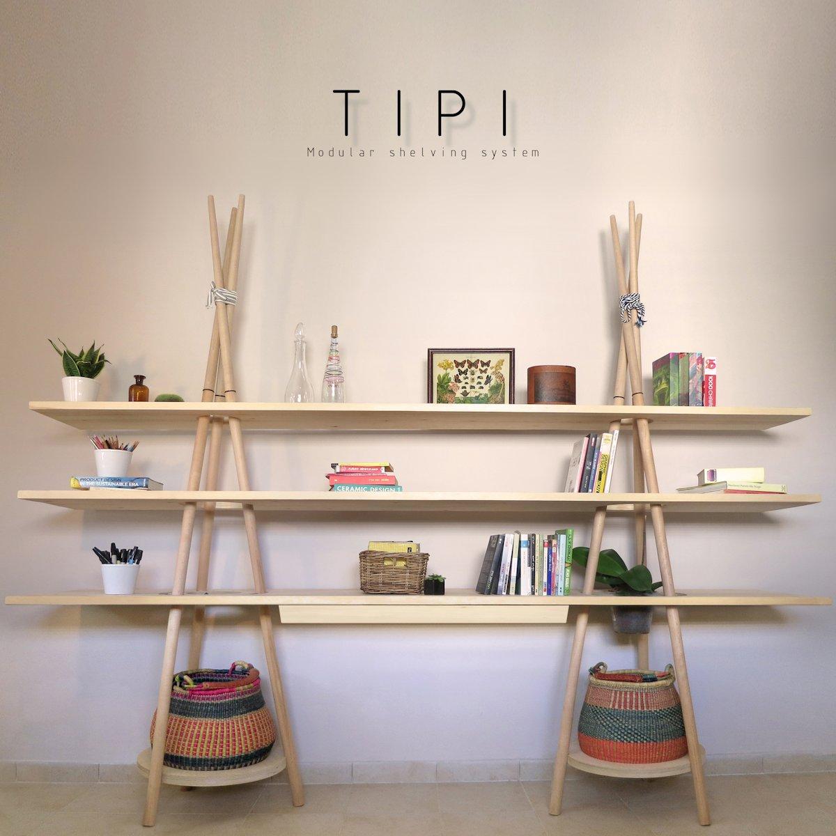 """Переносной стеллаж """"tipi"""" от дизайнера assaf israel."""