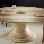 Round Tulipwood Table by Barnby & Day for Alex de Rijke