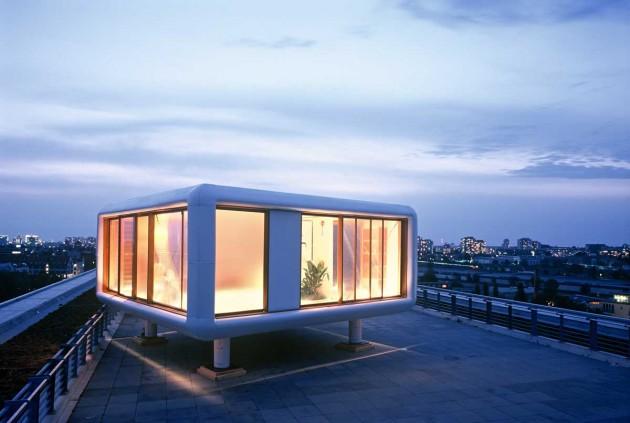 loftcube installed on hotel daniel 39 s rooftop contemporist. Black Bedroom Furniture Sets. Home Design Ideas
