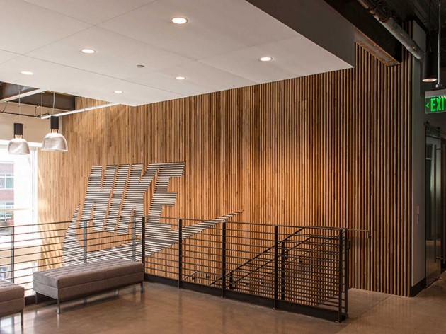 Nike Wood Feature Wall Contemporist