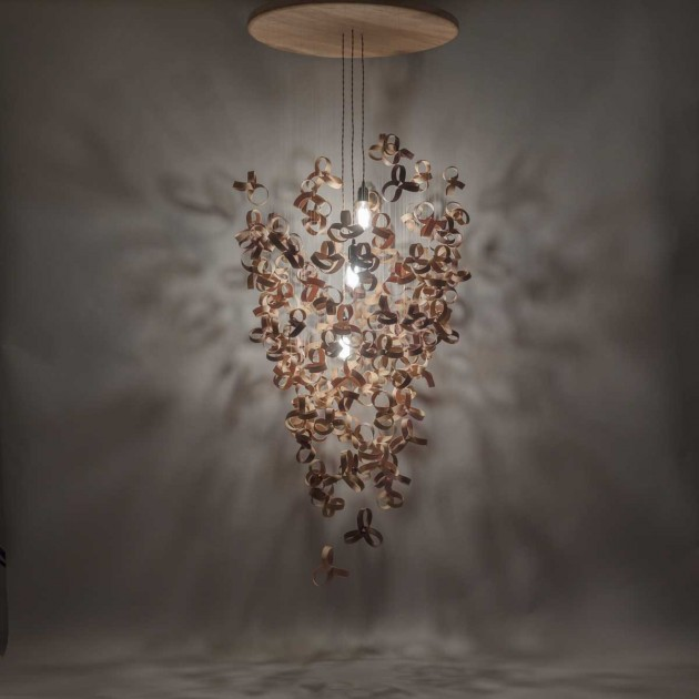 A Chandelier Made From Over 120 Steam-bent Shapes | CONTEMPORIST:gf_011214_01,Lighting