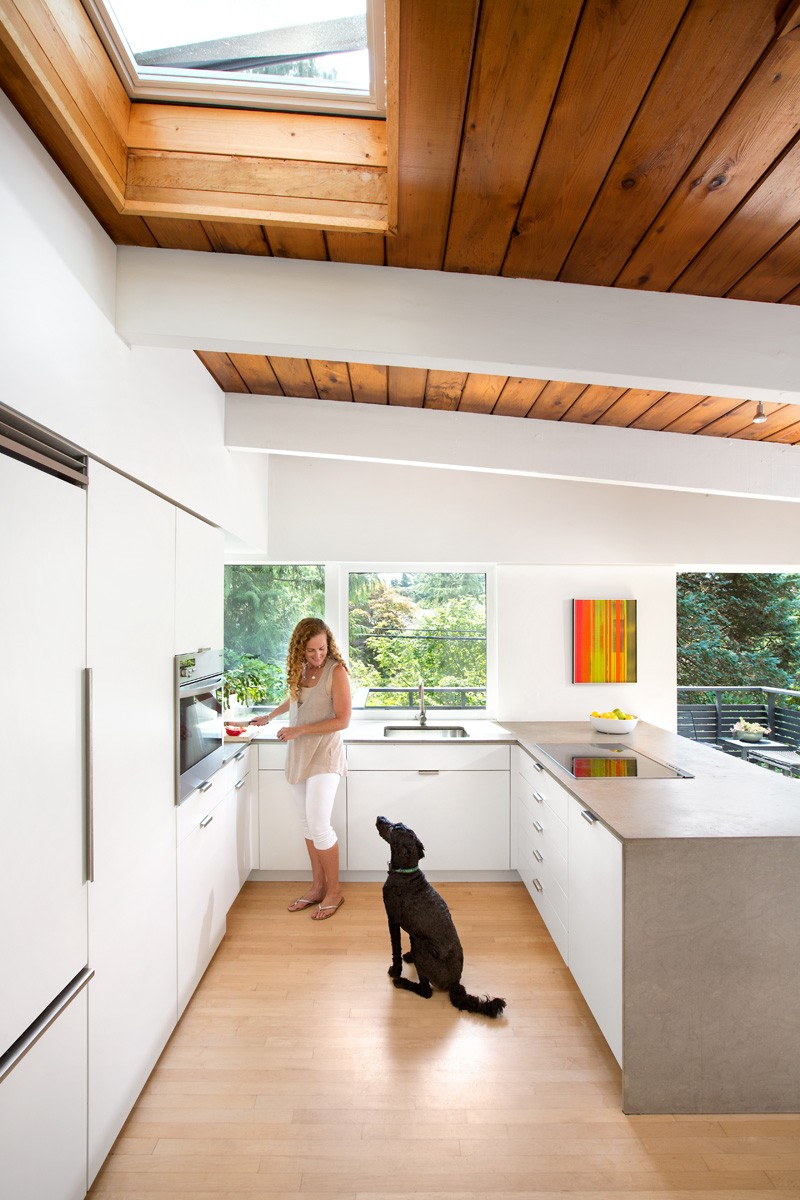 This 1950s post and beam house in vancouver gets a for Contemporary post and beam house plans