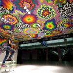 Jen Stark makes the walls melt with color at Miami International Airport