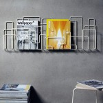 These Magazine Racks Look Like An Urban Cityscape/Skyline