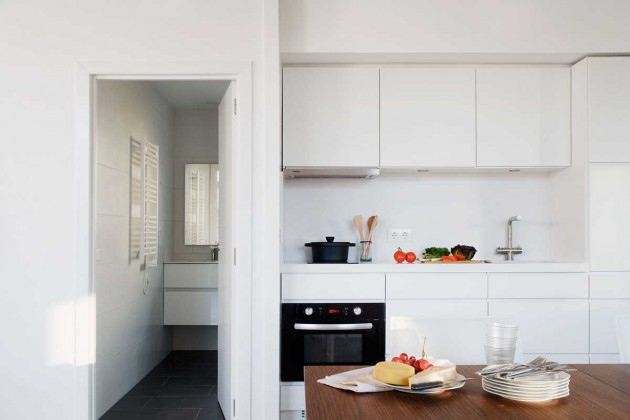 casa prefabricada, modular, eficiencia energética, domótica, cocina, comedor, dekoloop