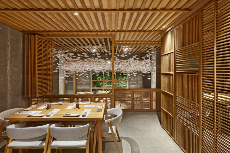 This sushi restaurant in spain is inspired by the look of