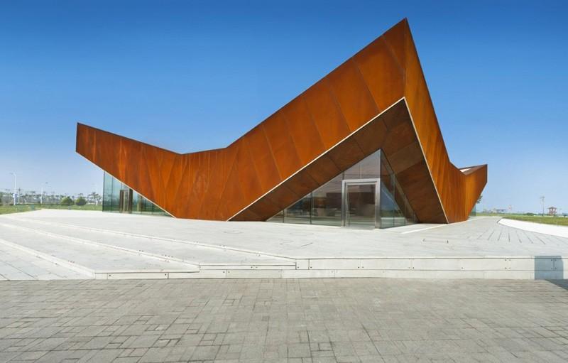 متریال فولاد،فولاد،استفاده از فولاد در نما،نمای فولادی،معماری با متریال فولاد