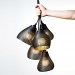 Studio MeraldiRubini create 3D printed pendant lights
