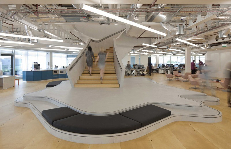 A new office design for uktv in west london contemporist for The best architecture firms in london
