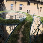 A Suspended Walkway Between Buildings By Zalewski Architecture Group