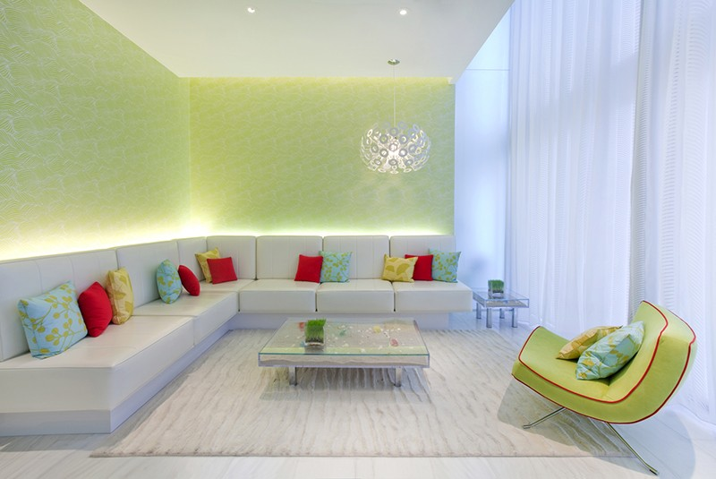 A Fresh Blue And Green Palette Create a Blissful Experience At This Spa