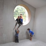 A Bubble Window For The Kids In This Home