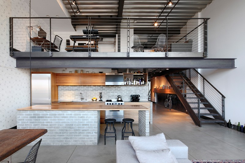 An Industrial Interior For This Loft Apartment In Seattle | CONTEMPORIST