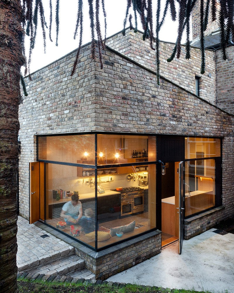 ... contemporary brick addition to an existing home in Dublin, Ireland