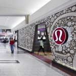 This Lululemon Store's Facade Is A Collage Of Locally Inspired Imagery Made From Sandblasted Wood