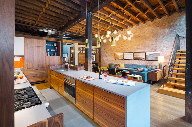 A caviar warehouse converted into a loft by andrew franz - Warehouse remodeled into house ...