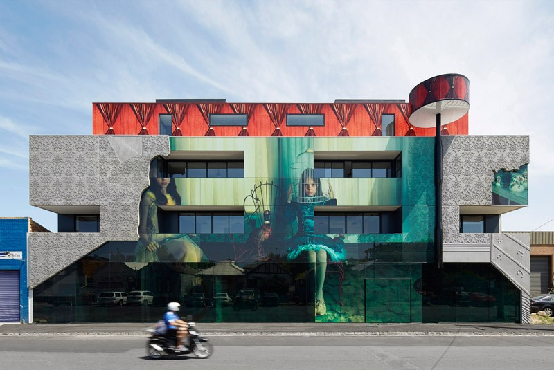 Art covered building