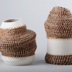 These Vases And Containers Combine Basket-Weaving And Ceramics