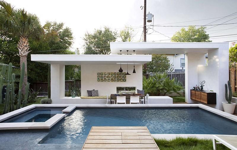 A Contemporary Pool Cabana