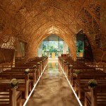 A Wedding Chapel Surrounded By Nature Motifs