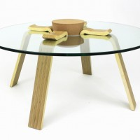 The Cork Stopper Table by Hyeonil Jeong