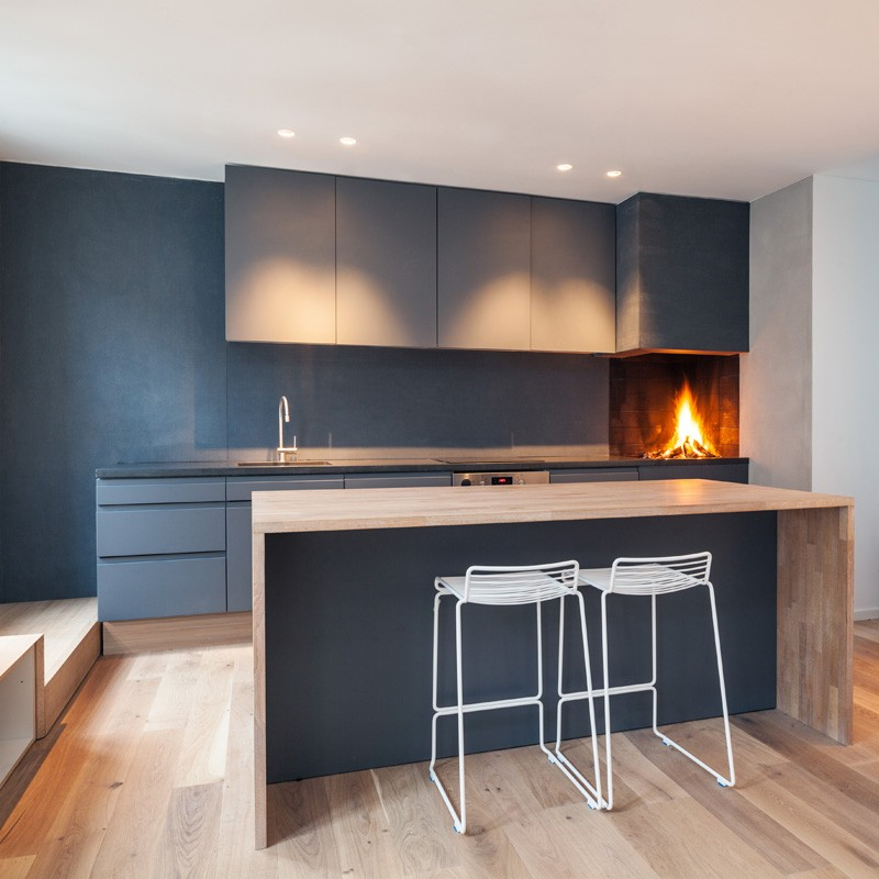 Kitchen Fireplace by Haptic Architects