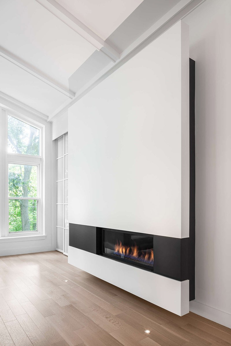 design detail a modern minimalist fireplace surround