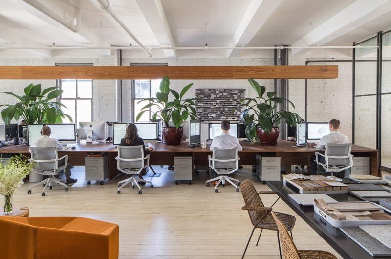 Inc architecture design their own office in new york for Office interior design nyc