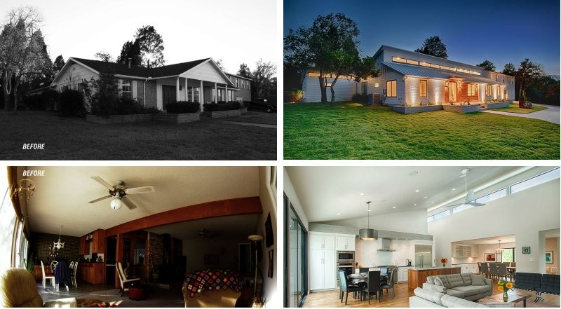 Before After A Texas Ranch House Transformation CONTEMPORIST Awesome Austin Tx Home Remodeling Exterior Design
