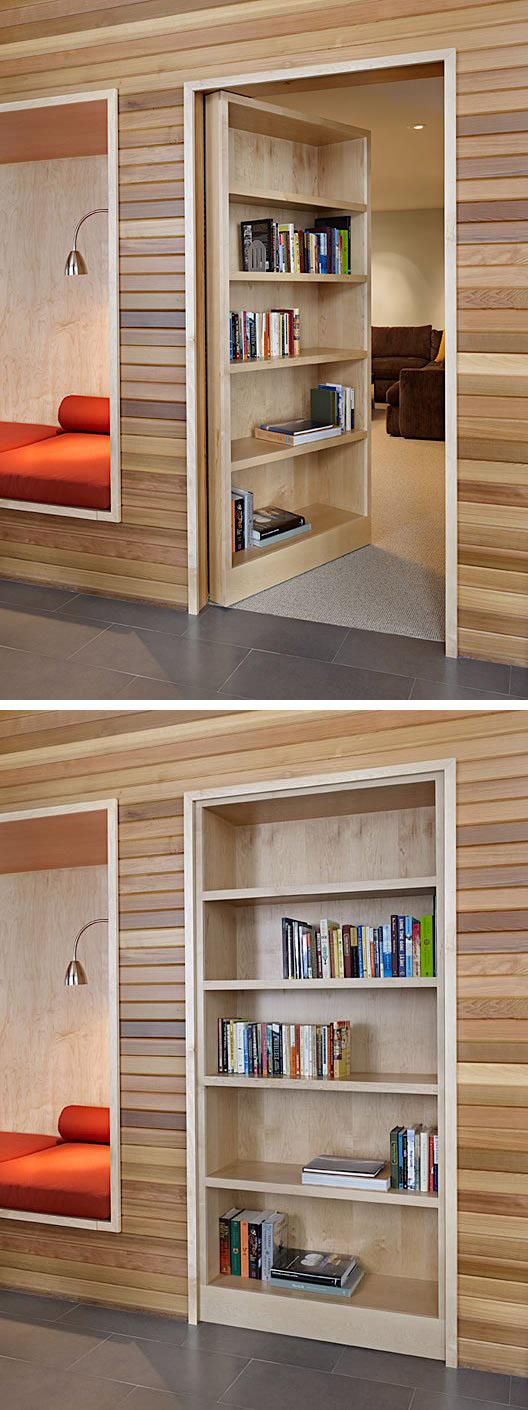 Secret door in a house